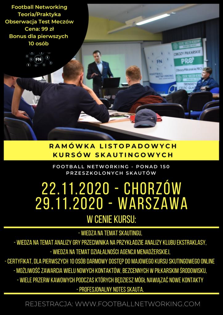 Kurs skautingowy , analiza gry i networking Chorzów